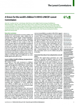 A future for the world's children? A WHO–UNICEF–Lancet Commission