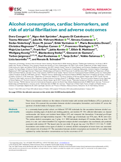 Alcohol consumption, cardiac biomarkers, and risk of atrial fibrillation and adverse outc-0